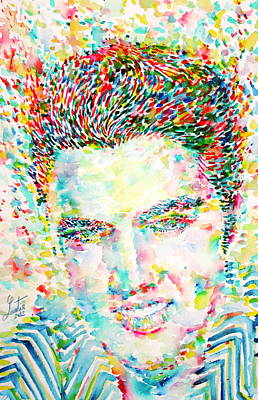 Elvis Presley Watercolor Portrait.1 Poster