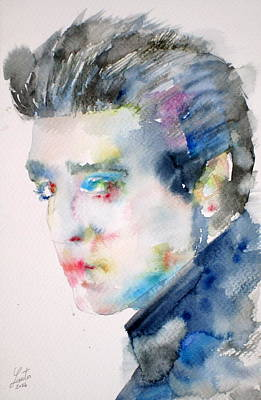 Elvis Presley Watercolor Portrait.3 Poster