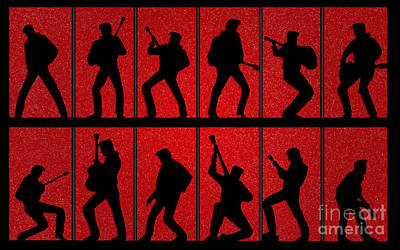 Elvis Silhouettes Comeback Special 1968 Poster