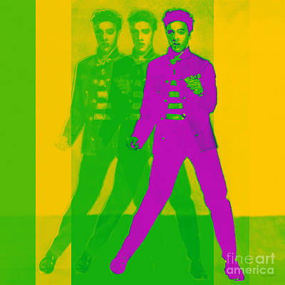 Elvis Three 20130215 Poster by Wingsdomain Art and Photography