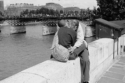 Poster featuring the photograph Embrace-paris by Dave Beckerman