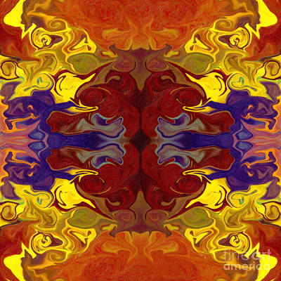 Embracing Transition Abstract Healing Artwork Poster