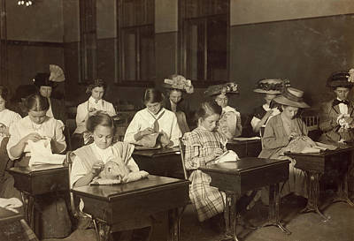 Embroidery Class, 1909 Poster