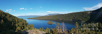 Poster featuring the photograph Emerald Bay Lake Tahoe Panorama by Paul Topp