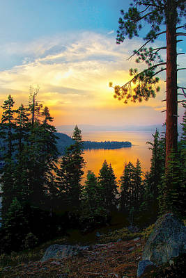 Emerald Bay Sunset Poster
