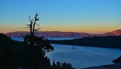 Emerald Bay Sunset Poster