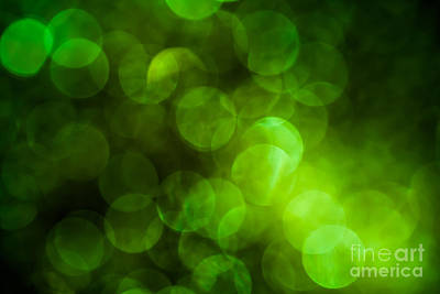 Emerald Bokeh Poster by Jan Bickerton