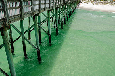 Poster featuring the photograph Emerald Green Tide  by Susan  McMenamin