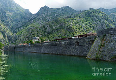 Emerald Green Water - Kotor Poster by Phil Banks