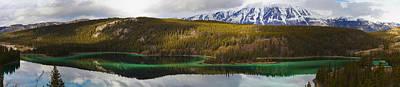 Emerald Lake Panorama Carcross Yukon Poster by Blake Kent