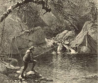 Emerald Pool At Peabody River Glen 1872 Engraving Poster