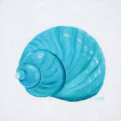 Emerald Shell Poster by Jan Matson