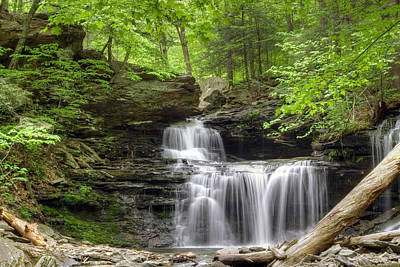Poster featuring the photograph Emerald Trees Surround R. B. Ricketts Falls by Gene Walls