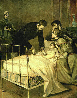 Emile Roux Treating Croup Poster by Collection Abecasis