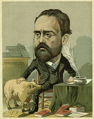 Emile Zola (1840 - 1902) French Writer Poster