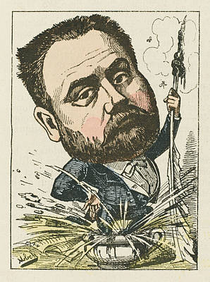 Emile Zola  French Novelist A Satirical Poster