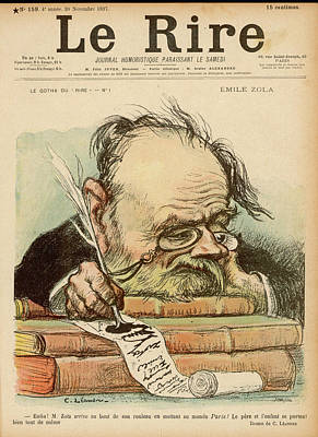 Emile Zola  French Novelist, Exhausted Poster