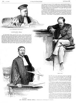Emile Zola In Court After The Poster