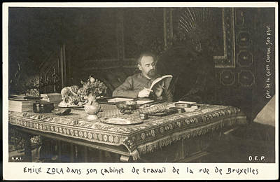 Emile Zola In His Work-room Poster