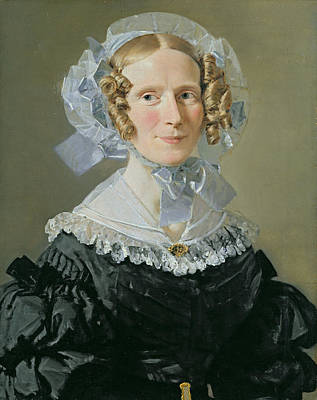 Emilie Kessel 1800-53 1839 Oil On Canvas Poster by Christian-Albrecht Jensen