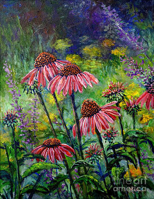 Poster featuring the painting Emily's Flowers by Lou Ann Bagnall