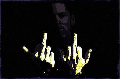 Eminem Poster Fingers Art Poster by Florian Rodarte