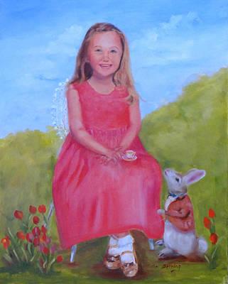 Emma In Wonderland Poster by Carol Berning