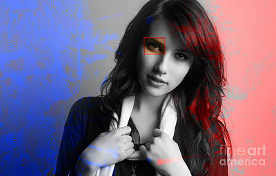 Emma Roberts Painting Poster by Marvin Blaine