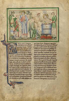 Emperor Domitian Speaking To Saint John The Evangelist Poster by Litz Collection