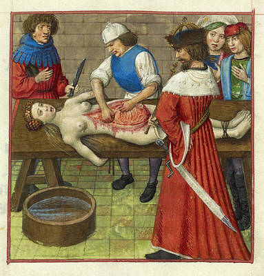 Emperor Nero At His Mother's Dissection Poster by British Library