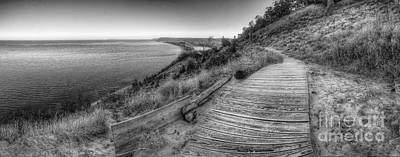 Empire Bluff In Black And White Poster by Twenty Two North Photography