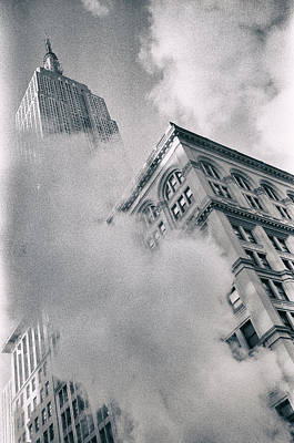 Empire State Building And Steam Poster