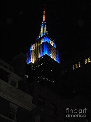 Empire State Building At Night Poster by Emmy Marie Vickers