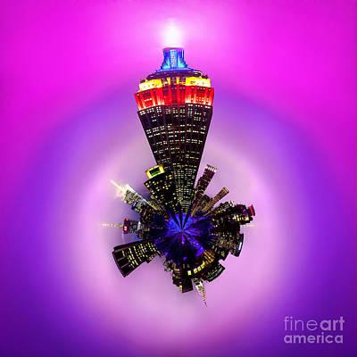 Empire State Building Circagraph Poster by Az Jackson