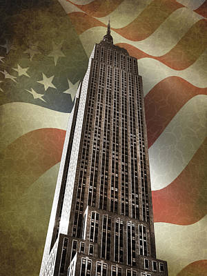 Empire State Building Poster by Mark Rogan