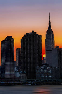 Empire State Building Sunset Poster by Susan Candelario