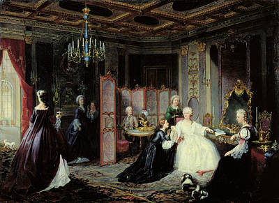 Empress Catherine The Great 1729-96 Receiving A Letter, 1861 Oil On Canvas Poster
