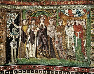 Empress Theodora With Her Court. Ca Poster