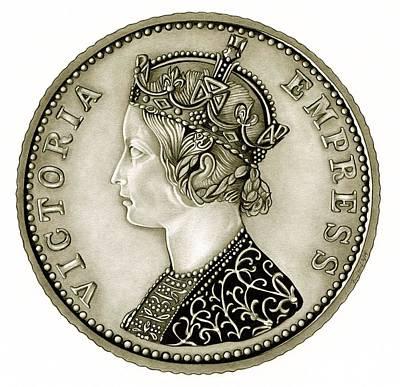 Silver Empress Victoria Poster by Fred Larucci