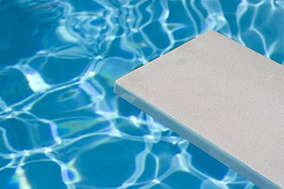 Empty Diving Board And Water Poster