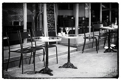 Empty Paris Cafe Poster by John Rizzuto