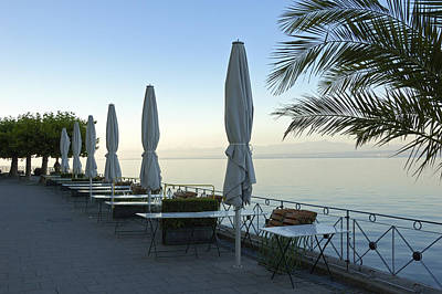 Empty Promenade In The Morning Meersburg Lake Constance Poster by Matthias Hauser