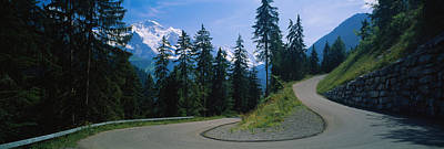 Empty Road Passing Through Mountains Poster by Panoramic Images