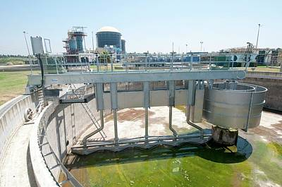 Empty Secondary Clarifier Poster by Photostock-israel
