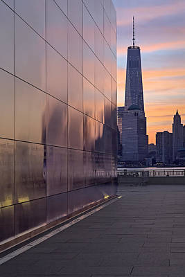 Empty Sky Memorial And Freedom Tower Sunrise Poster