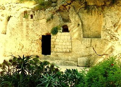 Empty Tomb Of Jesus Poster by Lou Ann Bagnall