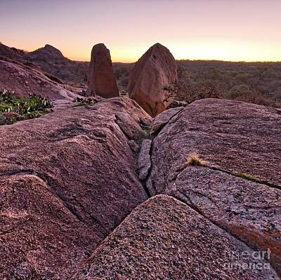 Enchanted Sunrise Enchanted Rock Texas Hill Country Poster by Silvio Ligutti
