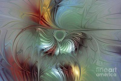 Enchanting Flower Bloom-abstract Fractal Art Poster