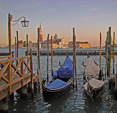 Venice End Of A Day Poster by Walter Fahmy