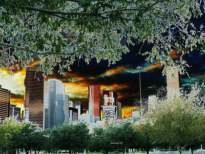 End Of Days Houston Skyline Poster